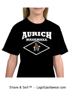 Kids Aurich Baseball Catcher T-Shirt Design Zoom