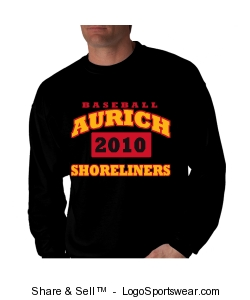 Black 2010 Shoreliners sweatshirt Design Zoom