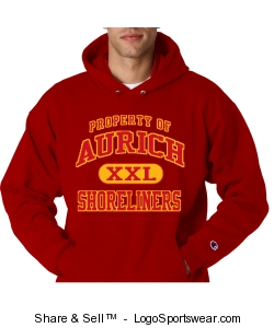 Red Aurich Shoreliners property hoodie Design Zoom
